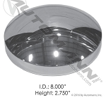 Rear Hub Cap Dome Style Chrome 562.C1002C